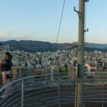 Panoramic view of Kavala from the castle tower